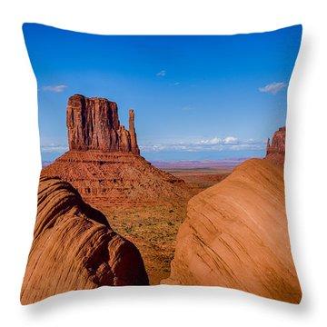 Between The Rocks Throw Pillow