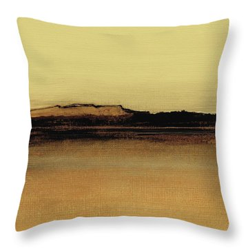 Between The Woods And Frozen Lake   Number Five Throw Pillow