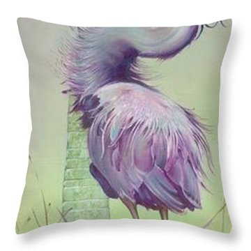 Throw Pillow featuring the painting Between The Worlds by Anna Ewa Miarczynska