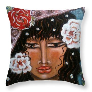 Between The Worlds Throw Pillow by Maya Telford