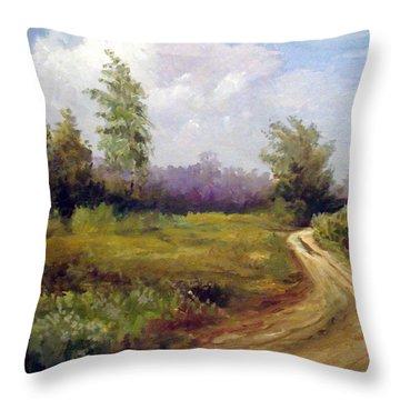 Between Villages Throw Pillow