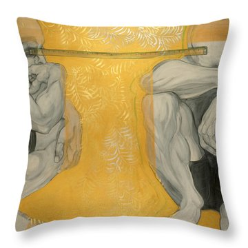 Between You And Me Throw Pillow by Darlene Graeser