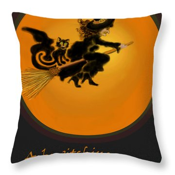 Betwitched Throw Pillow by Carol Jacobs