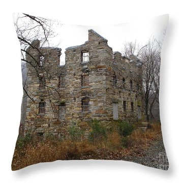Throw Pillow featuring the photograph Beverly Chapman's Mill by Jane Ford