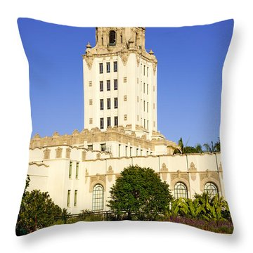 Beverly Hills Police Station Throw Pillow