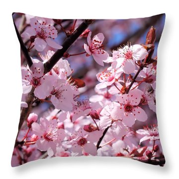 Bevy Of Blossoms Throw Pillow
