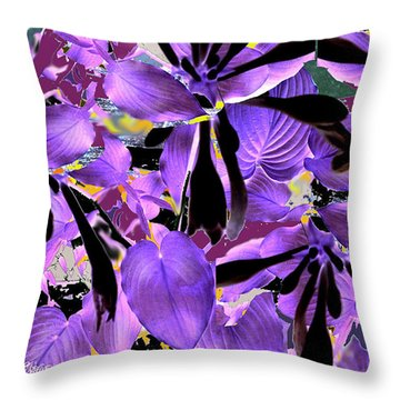 Throw Pillow featuring the digital art Beware The Midnight Garden by Seth Weaver