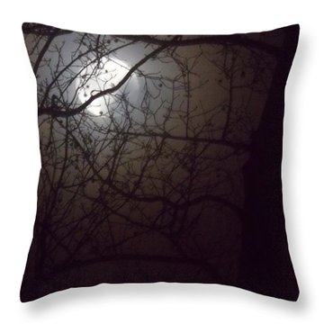 Throw Pillow featuring the photograph Beware The Rougarou Moon by John Glass