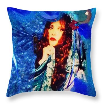 Bewitched In Blue Throw Pillow