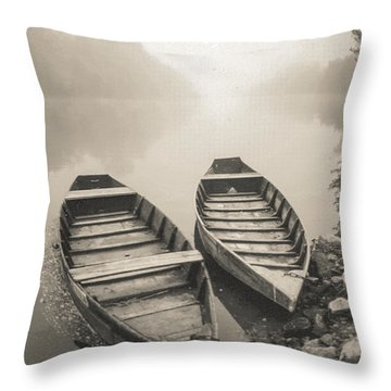 Beynac Boats Throw Pillow