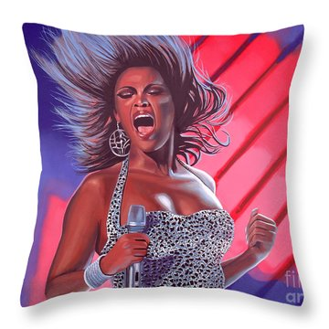 Beyonce Throw Pillow by Paul Meijering