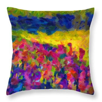 Throw Pillow featuring the painting Beyond A Simple Love by Joe Misrasi
