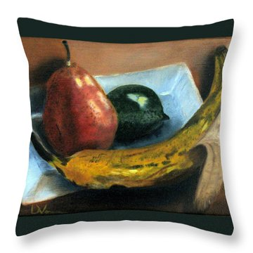 Throw Pillow featuring the painting Beyond Banana Nut Bread by LaVonne Hand