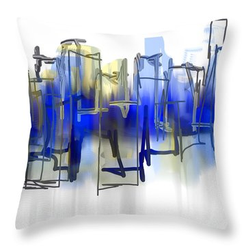 Beyond Blue Throw Pillow