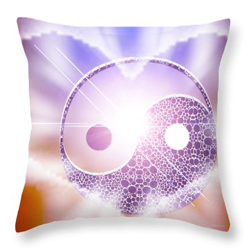 Beyond Duality Throw Pillow by Ute Posegga-Rudel