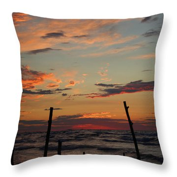 Throw Pillow featuring the photograph Beyond The Border by Barbara McMahon
