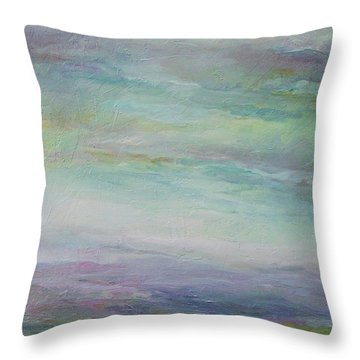 Beyond The Distant Hills Throw Pillow