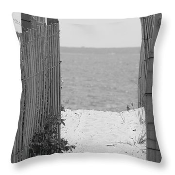 Beyond The Dunes Bw Throw Pillow