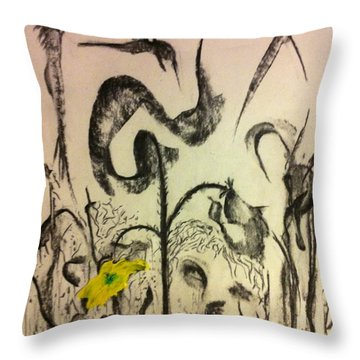 Beyond The Garden Flower Throw Pillow