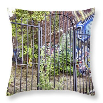 Beyond The Gate Throw Pillow by Jason Politte