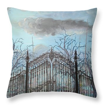 Beyond The Iron Gates Throw Pillow