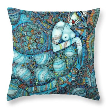 Beyond The Oceans... Throw Pillow
