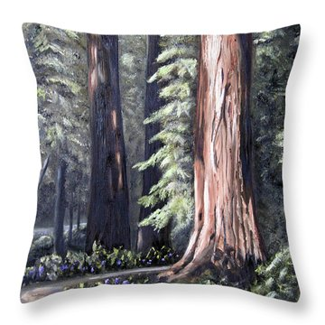 Beyond The Path Throw Pillow