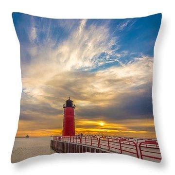 Beyond The Pier Throw Pillow