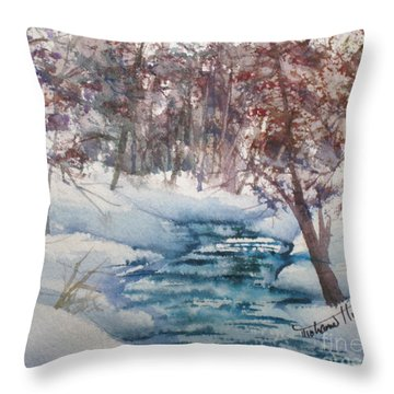 Beyond The Pond Throw Pillow by Mohamed Hirji