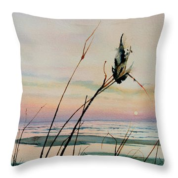 Beyond The Sand Throw Pillow by Hanne Lore Koehler