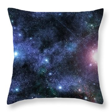 Beyond The Solar System Throw Pillows