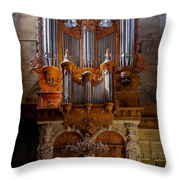 Beziers Pipe Organ Throw Pillow