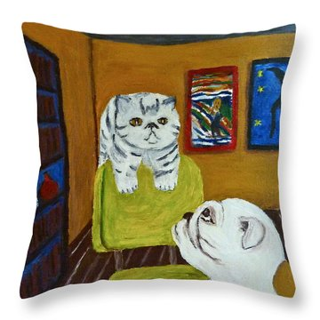 Bffs Throw Pillow by Victoria Lakes