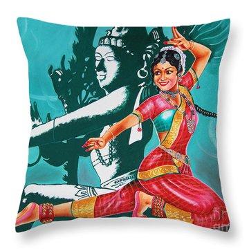Bharatanatyam Throw Pillow