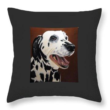 Bianca Rob's Dalmatian Throw Pillow