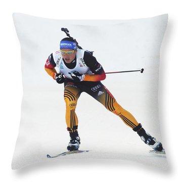 biathlete Erik Lesser Germany Throw Pillow