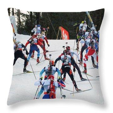 Biathlon Worldcup Start Phase Throw Pillow