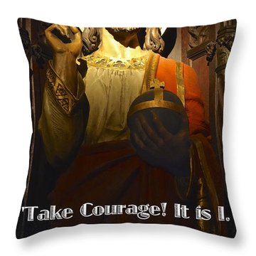 Throw Pillow featuring the photograph Bible Quote  Mark 6  50 by Joan Reese