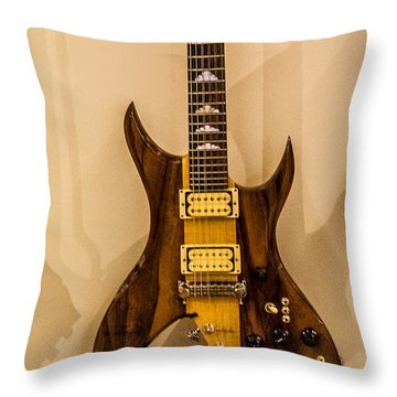 Bich Electric Guitar Colored Throw Pillow