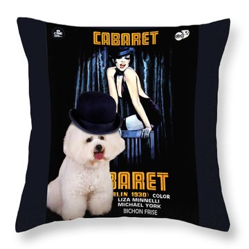 Bichon Frise Art - Cabaret Movie Poster Throw Pillow