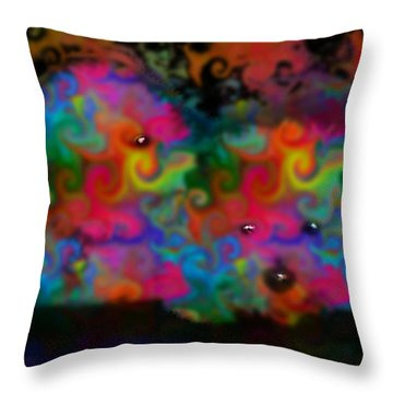 Bichons Throw Pillow by Marcello Cicchini