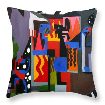 Throw Pillow featuring the painting Bicloptochotik by Ryan Demaree