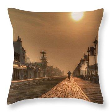 Bicycle Boardwalk Throw Pillow