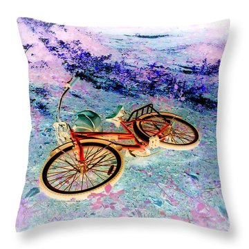 Bicycle On The Other Side II Throw Pillow