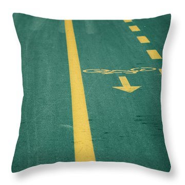 Bicycle Tracks Throw Pillow