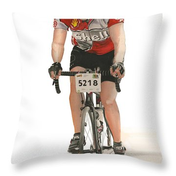 Bicycles Have No Walls Throw Pillow