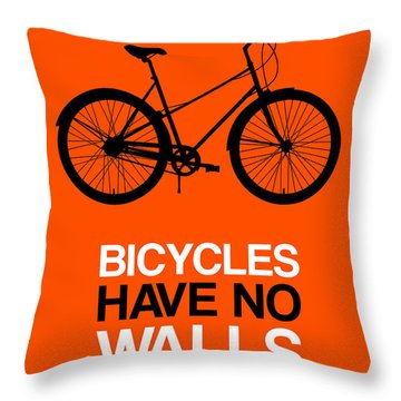 Bicycles Have No Walls Poster 1 Throw Pillow
