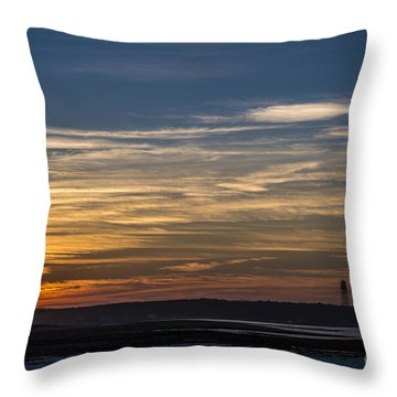 Biddeford Pool Maine Sunset Throw Pillow