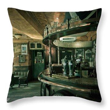 Biddy Mulligans Pub. Edinburgh. Scotland Throw Pillow by Jenny Rainbow