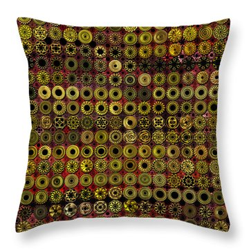 Biding Time In The Gold Flocked Basement Twixt Death And Funeral Throw Pillow